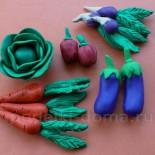 Овощи из пластилина