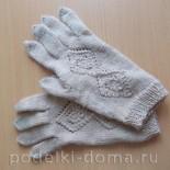 Перчатки, вязаные спицами. Мастер-класс