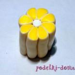 Лимонная трость из полимерной глины в технике Миллефиори