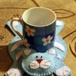 Котёнок – подставка для кружки