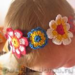 Повязка на голову для девочки (крючком, со схемами)