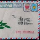 Необычный конверт для любовного послания