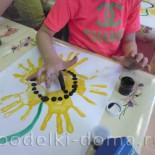 «Подсолнухи»  (рисование ладошкой и пальчиком)