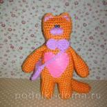 Рыжий котик (вязание крючком)