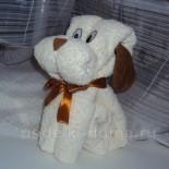 Подарок: собачка из полотенца