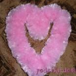Воздушное сердце из целлофановых пакетов