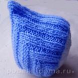 """Шапочка для новорожденного """"Эльф"""" (вязание спицами)"""