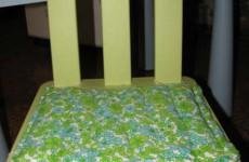 Как сшить подушку нас стул