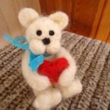 """Валяная игрушка """"Медвежонок"""""""