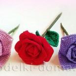 Цветок розы (вязание крючком)