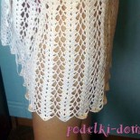 Пляжная ажурная юбка, вязаная крючком