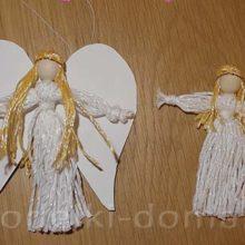Ангелочки из ниток