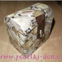 Сундучок и домик из коробок