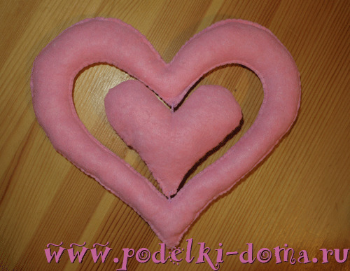 Сердечки из салфетки