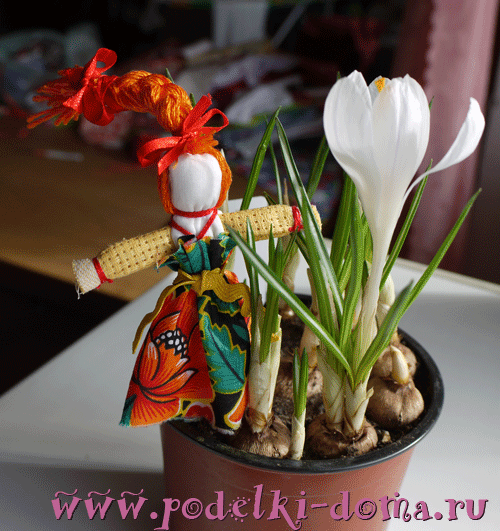 Куколка веснянка с косой