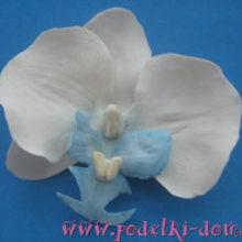 Заколка — орхидея из полимерной глины