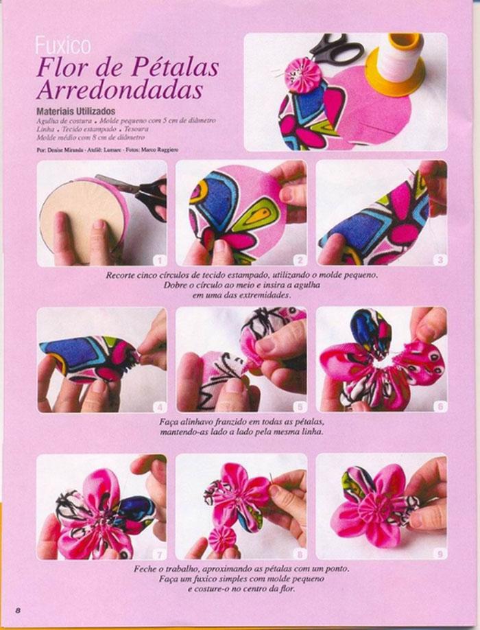 текстильные цветы - схема