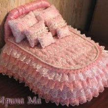 Мебель для кукол. Двуспальная кровать. Мастер-класс
