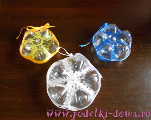 Елочные игрушки из пластиковых бутылок, Коробочка идей и мастер-классов
