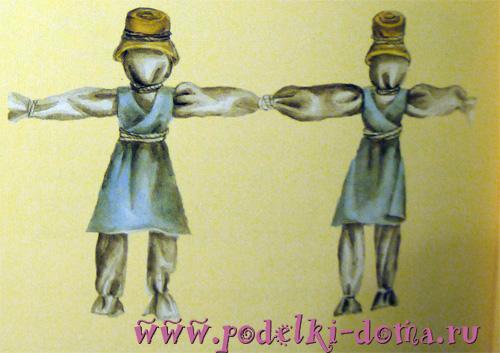 кукла Кузьма и Демьян