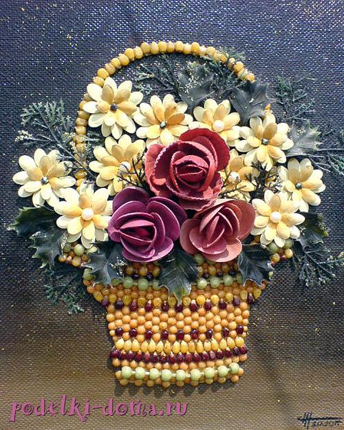 Живые цветы в ракушке мастер класс креативный подарок маме на 8 марта своими руками видео