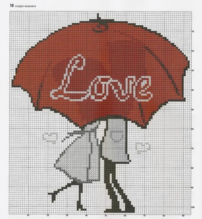 Вышивки на тему любви