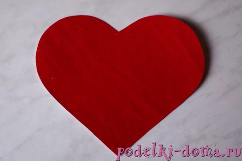 Фоторамка в технике квиллинг (сердце)