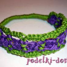Плетение макраме — браслет