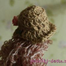 Шляпка для текстильной куклы своими руками