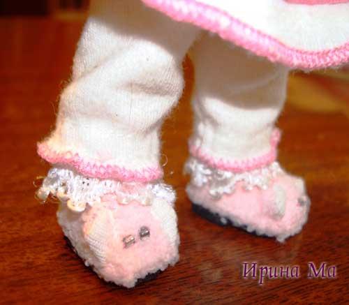 тапочки для куклы