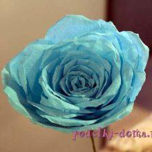 Голубая роза из бумаги