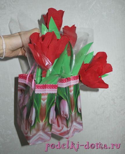 cvety iz konfet