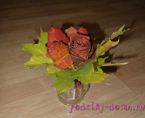 cvety iz listev
