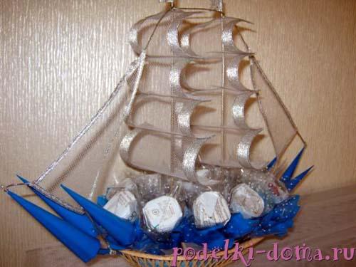 Кораблики из конфет своими руками фото