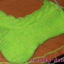 Как вязать носки с плетенкой