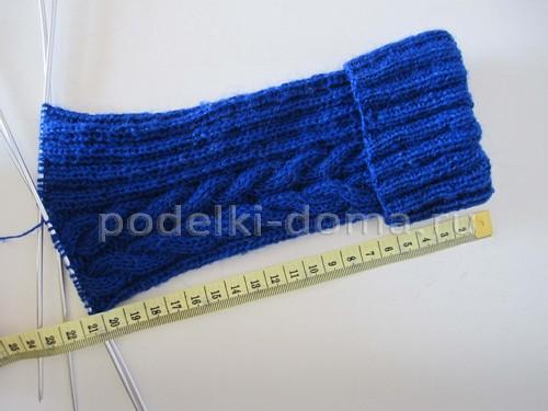 Как вязать носки с косой (плетенкой)