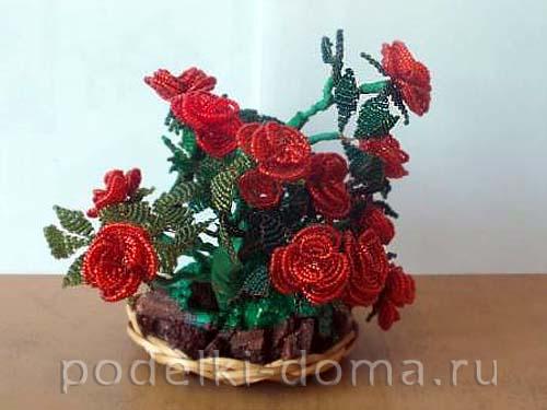 rozy iz bisera master-klass