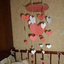 Мобиль «Сердечки» к дню Святого Валентина