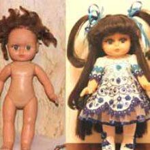 Аллочка. Реставрация куклы Ирины Ма