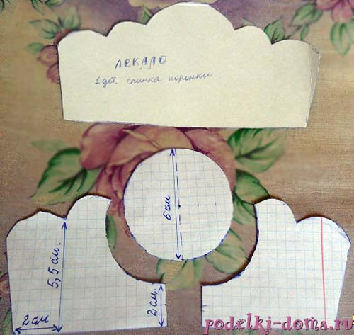 Выкройка шкатулки из открытки