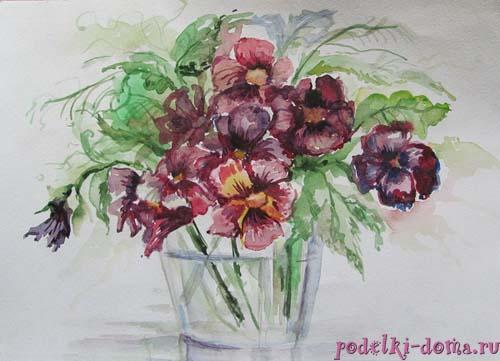 cvety akvarel