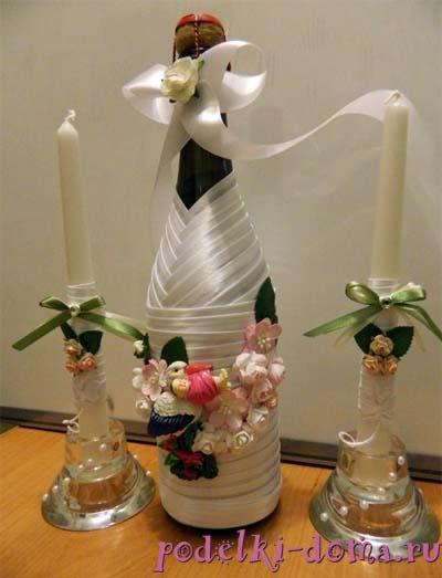 butylka i svechi na svadbu