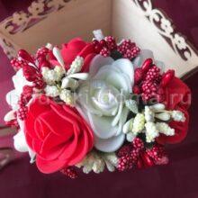 Венок-ободок с цветами из фома