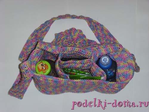 270d15cb2ff9 Для прогулок с детьми: сумка крючком (схемы и описание)   podelki ...