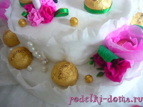 svadebnaya besedka konfety