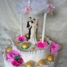 Композиция с конфетами «Свадебная беседка»
