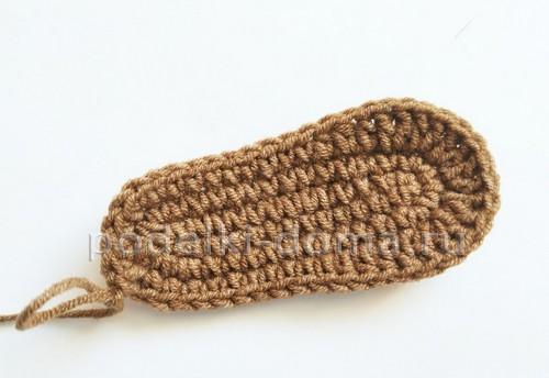 Пинетки (вязание крючком, описание со схемами)
