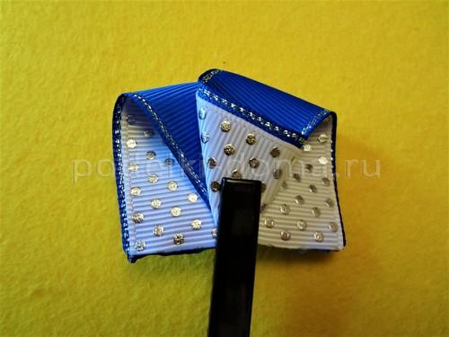 Банты и резиночки из лент на 1 сентября в школу