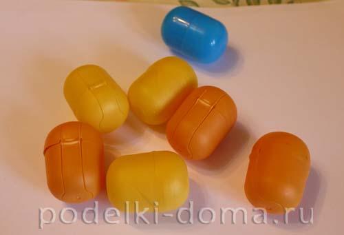 Поделки из больших киндер яиц своими руками фото