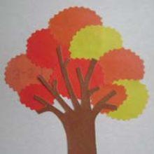 Бумажная аппликация — осеннее дерево